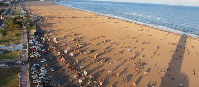 Madras Marina Beach- Historical moments, Memorials, Jallikattu protest, Restaurants, Accommodations