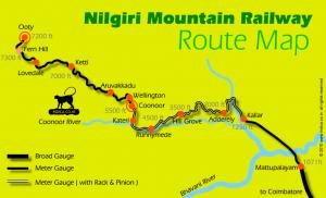 nilgiri-railways-ooty-metupalayam-route-map